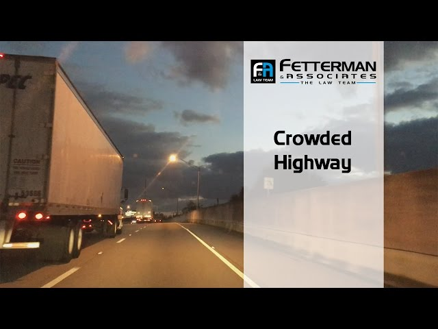 Crowded Highways and Truck Accidents | Fetterman & Associates, PA | 561-845-2510