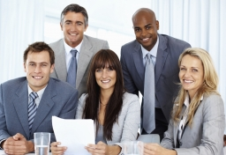 Business team with paperwork
