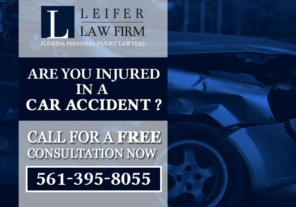 Are you Injured in a Car Accident? - Injured in a auto accident caused by the negligence of another driver, Call a experienced Boca Raton auto accident attorney at Leifer Law Today. visit : http://www.leiferlaw.com/